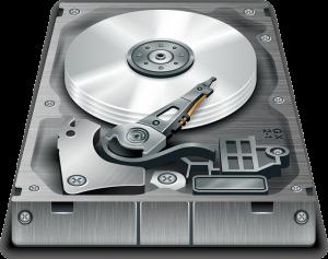 An illustration of a hard disk.