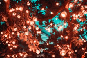 Boost your home's curb appeal with lights.