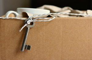Box and keys.