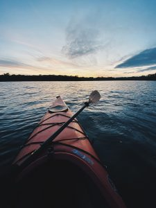 A kayak in the water.