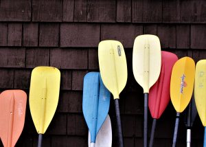Paddles in various colors.