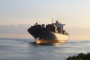 A vessel for overseas cargo transportation.