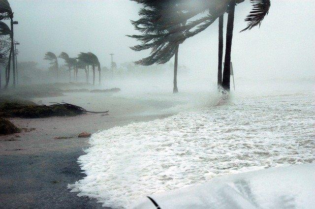 A storm on a Florida beach
