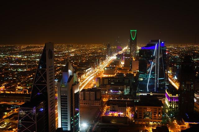 Riyadh at night.